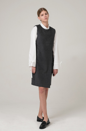 LAB SLIT DRESS_GREY