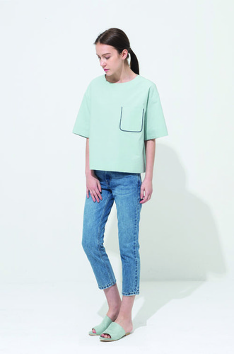 POCKET BLOCK TOP [MINT]