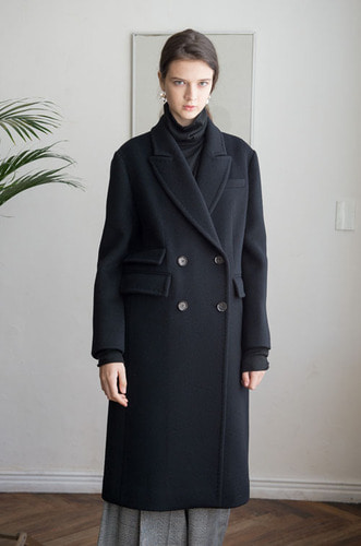 CLASSIC DOUBLE TAILORED COAT[BK]