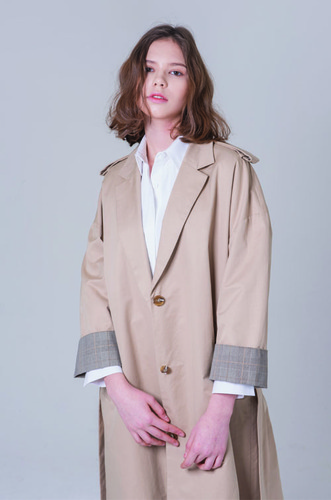 BOXY OVER TRENCH COAT