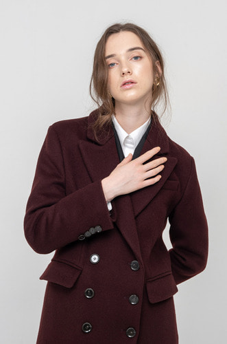 TAILORED DOUBLE BREASTED WOOL COAT [BG]
