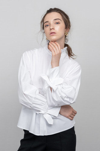 [3차리오더/9/9일예약배송] FLORENCE DOUBLE BUTTON BLOUSE [WT]