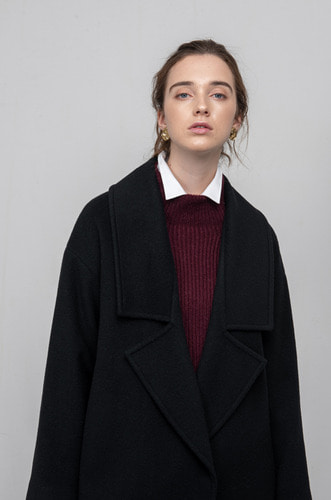 OVERSIZED MAX WOOL COAT [BK]