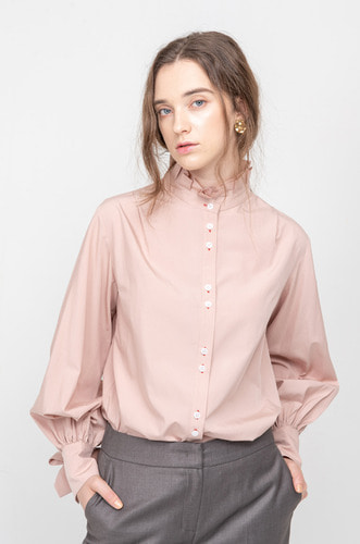 [6차리오더/9/9일예약배송] FLORENCE DOUBLE BUTTON BLOUSE [IP]