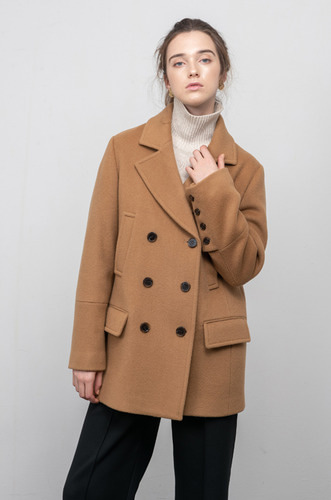 TAILORED DOUBLE WOOL COAT[CM]