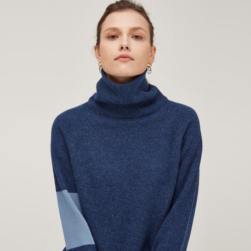 [노코시크] CASHMERE DOUBLE NECK KNIT [DM]